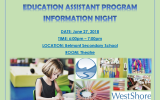 *CORRECTED TIME* EA PROGRAM 2019-2020 INFORMATION NIGHT – ALL ARE WELCOME